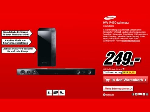 Samsung HW-F450 ©Media Markt