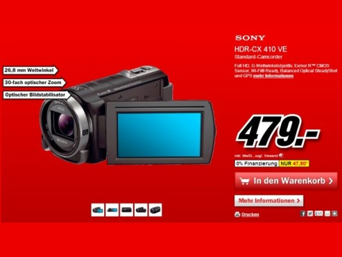 Sony HDR-CX410VE © Media Markt