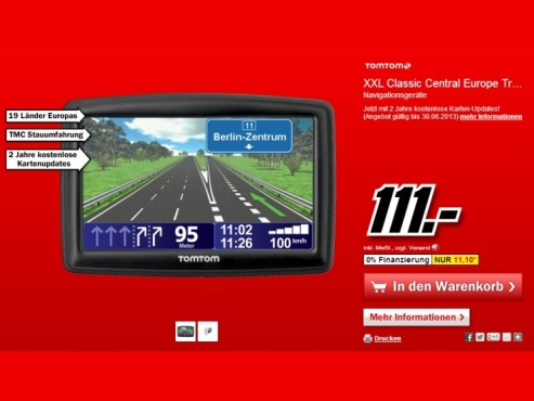 TomTom XXL IQ Routes Central Europe Traffic © Media Markt