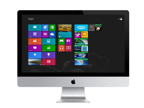 iMac mit Windows 8 © Apple