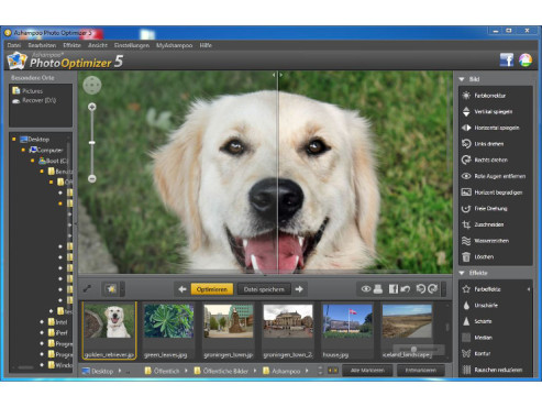 Ashampoo Photo Optimizer 5 -Tiere optimieren © Screenshot / COMPUTER BILD