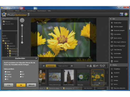 Ashampoo Photo Optimizer 5 - Zuschneiden © Screenshot / COMPUTER BILD