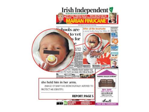 Baby mit Balken ©psdisasters.com