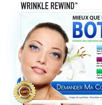 Werbung für Anti-Falten-Creme mit faltiger Frau ©psdisasters.com