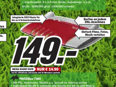AVM FRITZ!Box 7360 SL ©Media Markt
