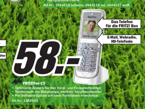 AVM Mobilteil FRITZ!Fon C3 ©Media Markt
