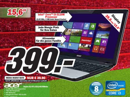 Acer Aspire E1-571-33114G75Mnks ©Media Markt