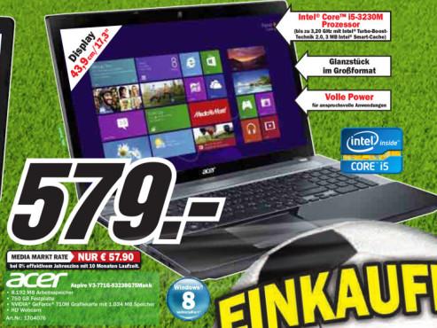 Acer Aspire V3-771G-53238G75Makk ©Media Markt