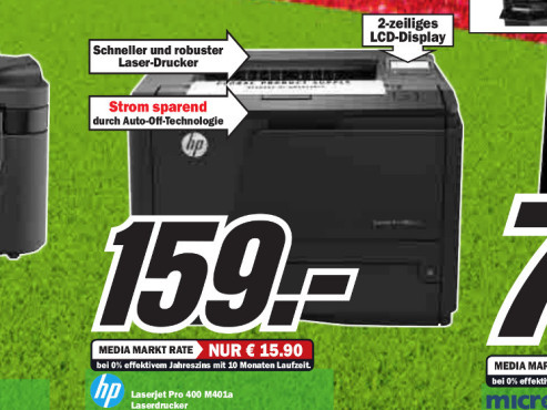 Hewlett-Packard HP LaserJet Pro 400 M401a © Media Markt
