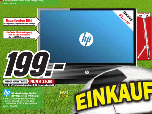 Hewlett-Packard HP X2401 © Media Markt