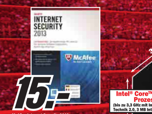 McAfee Internet Security 2013 (1 User) (1 Jahr) (Win) (Multi) © Media Markt