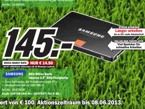 Samsung 840 Series 250GB Basic © Media Markt