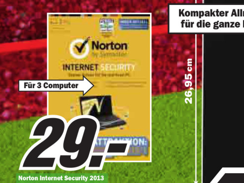 Symantec Norton Internet Security 2013 (3 User) (1 Jahr) (Win) (DE) © Media Markt