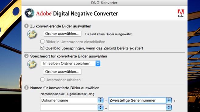 Adobe DNG Converter & Camera Raw: Spezial-Werkzeug für Profi-Dateiformat ©COMPUTER BILD