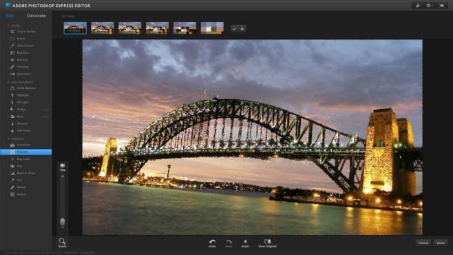 Photoshop Express: Onlinedienst mit allem Wichtigen ©COMPUTER BILD