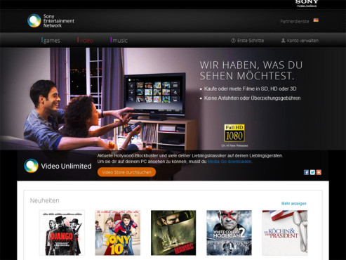 Platz 3: Sony - Video Unlimited © Sony - Video Unlimited