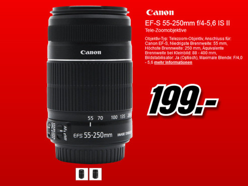 Canon EF-S 55-250mm f4.0-5.6 IS II © Media Markt