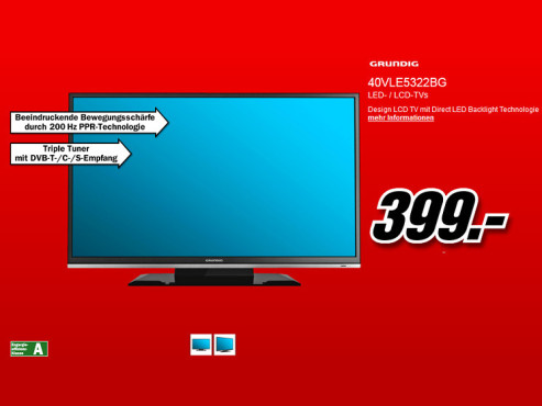 Grundig 40 VLE 5322 BG ©Media Markt