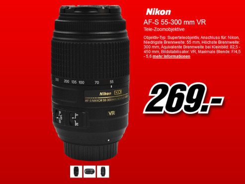 Nikon AF-S DX Nikkor 18-105mm f3.5-5.6 G ED VR © Media Markt