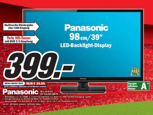 Panasonic TX-L39B6 ©Media Markt