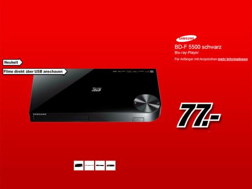 Samsung BD-F5500 ©Media Markt
