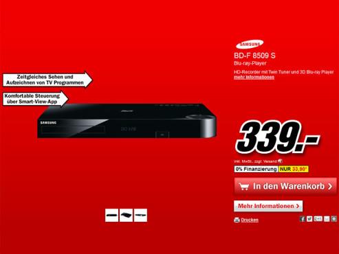 Samsung BD-F8509 ©Media Markt