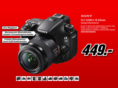 Sony Alpha 58 Kit 18-55 mm (SLT-A58K) © Media Markt