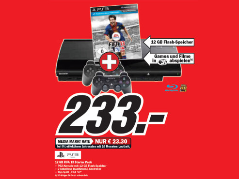 Sony Playstation 3 Super slim 12GB © Media Markt