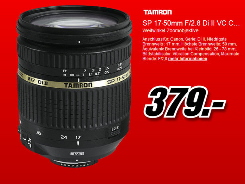 Tamron SP AF 17-50mm f2.8 XR Di II VC LD Aspherical IF ©Media Markt