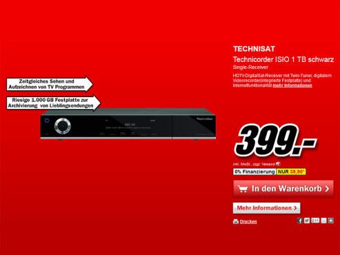 Technisat Technicorder ISIO 1 TB ©Media Markt