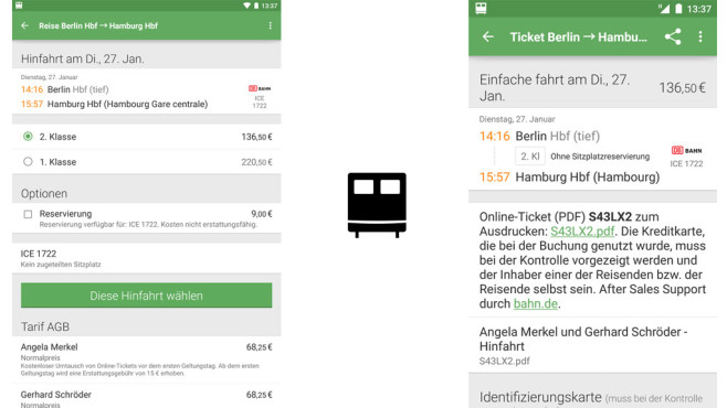 Capitain Train – Bahn-Tickets © Capitaine Train