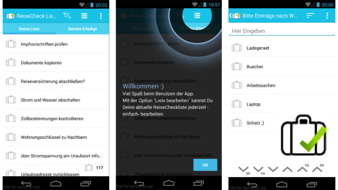 Reise Checkliste ©Simple Solutions - Fast and Reliable
