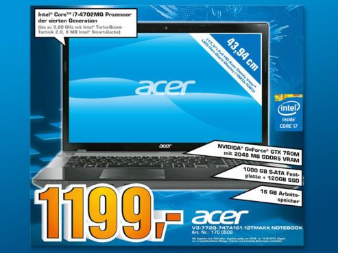 Acer Aspire V3-772G-747a161.12TMakk (NX.M8SEG.006) ©COMPUTER BILD