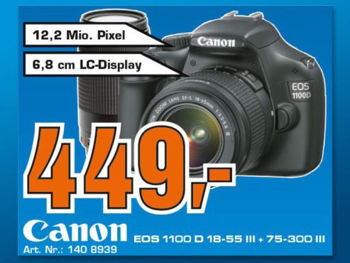 Canon EOS 1100D Kit 18-55 mm + 75-300 mm ©COMPUTER BILD
