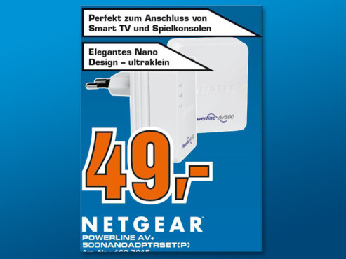Netgear Powerline AV+ 500 Nano Adapter Starter Kit (XAVB5601) © COMPUTER BILD
