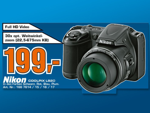 Nikon Coolpix L820 ©COMPUTER BILD