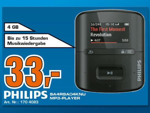 Philips GoGear Raga 4GB SA4RGA04 ©COMPUTER BILD