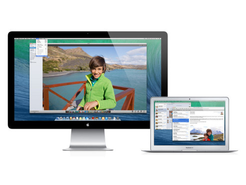Screenshot OS X Mavericks © Apple