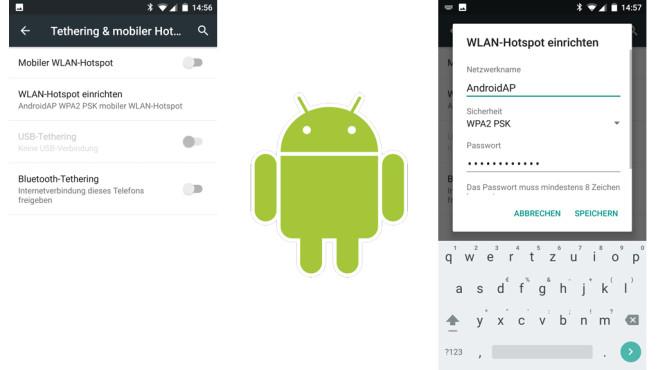 Schnell eingerichtet: Hotspot auf Android-Handys ©COMPUTER BILD