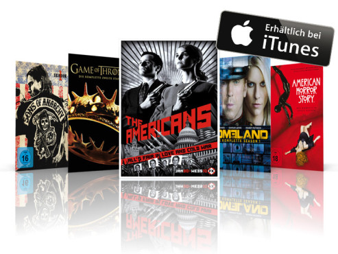 Sons of Anarchy, Game of Thrones, The Americans, Homeland, American Horror Story ©iTunes, FX, HBO, Showtime