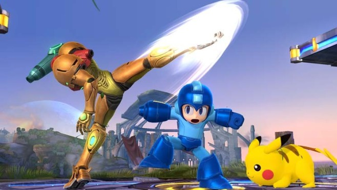 Actionspiel Super Smash Bros.: Mega Man © Nintendo