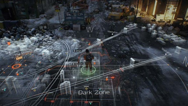 Online-Actionspiel Tom Clancy's The Division: Karte © Ubisoft
