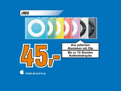 Apple iPod shuffle 2GB (4. Generation) © Saturn