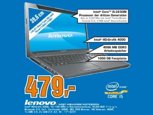Lenovo IdeaPad N581 (MBA99) ©Saturn