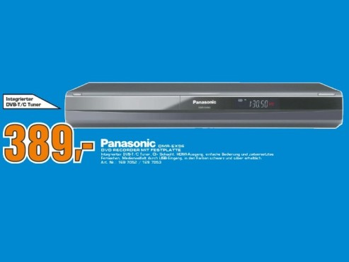 Panasonic DMR-EX96 320GB © Saturn