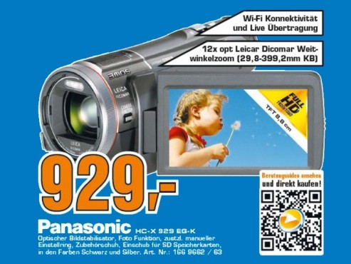 Panasonic HC-X929 © Saturn