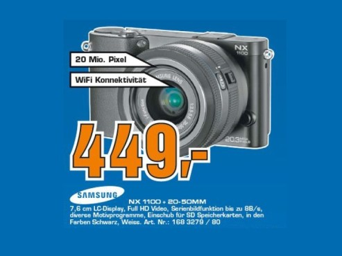 Samsung NX1100 Kit 20-50 mm © Saturn