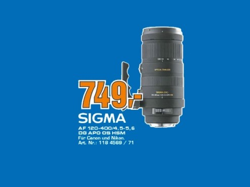 Sigma 120-400mm f4.5-5.6 DG OS HSM © Saturn