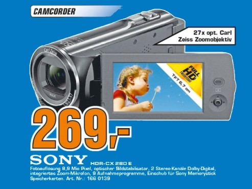 Sony HDR-CX280E © Saturn