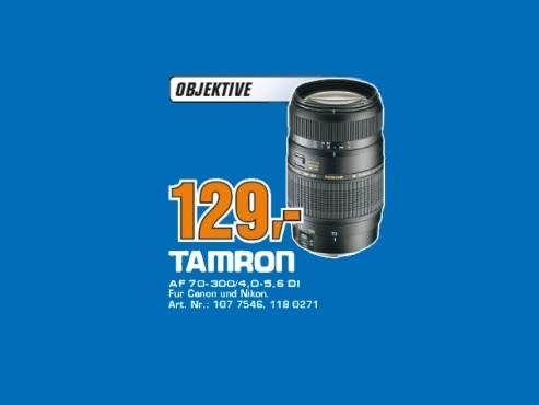 Tamron SP AF 70-300mm f4.0-5.6 Di VC USD © Saturn